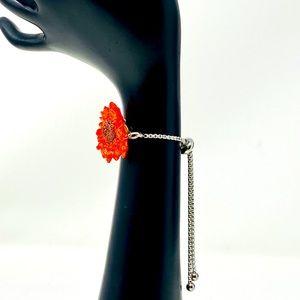 CLEARANCE Sterling silver-back flower bracelet